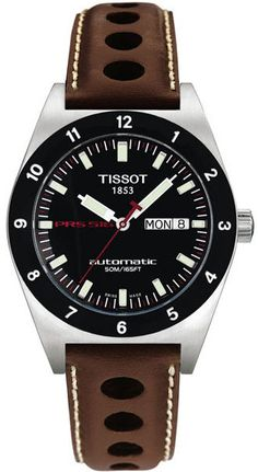 T91.1.413.51 NEW TISSOT T-SPORT PRS516 AUTOMATIC MENS WATCH Discontinued usually ships within 6 months - FREE Overnight Shipping - NO SALES TAX (Outside California)- WITH MANUFACTURER SERIAL NUMBERS- Black Dial - Self Winding Automatic Movement - 3 Year Warranty- Guaranteed Authentic - Certificate of Authenticity- Brushed with Polished Steel Case - Brown Leather Strap - Scratch Resistant Sapphire Crystal - Manufacturer Box
