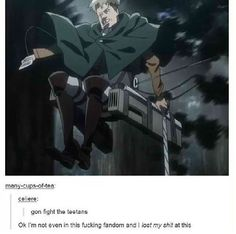 Attack on Titan / Shingeki no Kyojin Armin, Levi X Eren, Me Anime, Anime Meme, Anime Manga, Anime Stuff, Anime Naruto, Attack On Titan Funny, Attack On Titan Anime