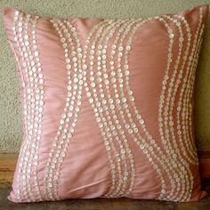 Angelic Charm Throw Pillow Covers 16x16 Inches by TheHomeCentric, $29.95