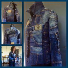 Repurposing Jeans trousers into stunning Jeans Jacket @ my work by Marleen 365 dagen creatief: Ik kon het niet laten