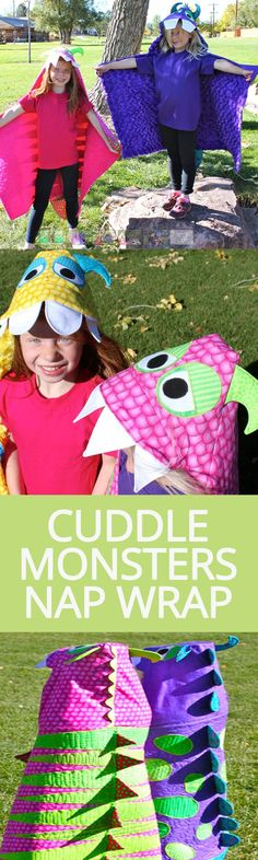 Cuddle Monsters Nap Wrap   National Sewing Circle http://www.nationalsewingcircle.com/product/cuddle-monsters-nap-wrap/?utm_content=buffere4436&utm_medium=social&utm_source=pinterest.com&utm_campaign=buffer #LetsSew