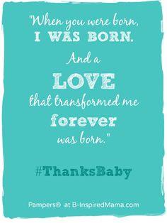 When A Parent Is Born - #sponsored #ThanksBaby #parenting #motherhood #kbn #binspiredmama