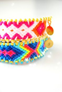 Personalized monagram. Neon Handwoven Friendship by sobohemians, $27.90