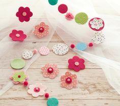 Felt Flower Garland | Pottery Barn Kids