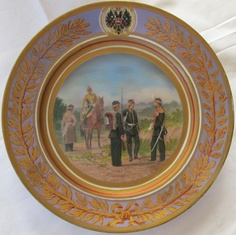Imperial Russian Porcelain:  Military Service
