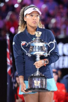 Grand Slam Champion Naomi Osaka Of Japan Posing With Australian Open Trophy After Her Victory In Final Match At 2019 Australian Op Editorial Stock Image - Image of forehand, aust: 138711344 Tennis Stars, Osaka Japan, Australian Open, Slammed, Victorious, Finals, Melbourne, Champion, Face