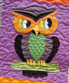 Halloween quilt owl