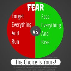 Fear: How You Use It Is Your Choice   Do you use your fear to stop you or as a beacon of light to help you, as you make each revolution of your wheel?