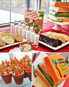 Children's Book Theme Baby Shower -- ask for the guests to bring books instead of cards as gifts!
