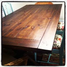 Dinning Table handmade dream-home Diy Furniture Projects, Home Projects, Home Crafts, Diy Dining Table, Dinning Chairs, Do It Yourself Home, Home Hacks, Ana White, Kitchen Remodel