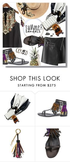 """""""Untitled #983"""" by wannanna ❤ liked on Polyvore featuring MCM, Yves Saint Laurent and Etro"""