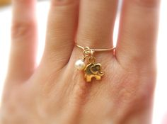 Hey, I found this really awesome Etsy listing at https://www.etsy.com/listing/156640735/elephant-ring-gold-filled-ring-charm