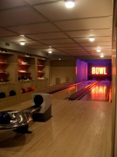 Bowling Alley In The Basement Game Room Kitchen