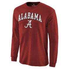 Alabama Crimson Tide Campus Long Sleeve T-Shirt - Crimson