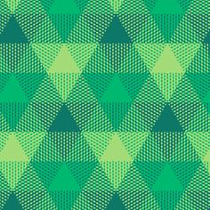 Serene green triangle gingham fabric by weavingmajor on Spoonflower - custom fabric