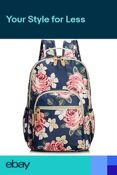 e8b3d00c5a School Bookbags For Girls Cute Floral Water-resistant Laptop Backpack  College