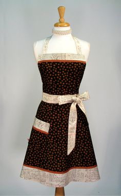 Classic Retro Womens Full Apron  Vintage by SwankyPlaceAprons, $37.50