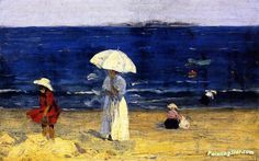 The Beach At Dinard Artwork By Clarence Gagnon Oil Painting & Art Prints On Canvas For Sale Albert Camus, Clarence Gagnon, Canadian Painters, Canadian Artists, Art Database, Illustrations, Winter Scenes, Canvas Art Prints, Art Photography