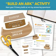 Noah was blessed for choosing the right - 2017 february week 1 sharing time - Build an Ark activity.  http://www.theredheadedhostess.com