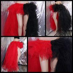 Harley Quinn Red Black Split Trashy Formal Bustle TuTu Adult All Sizes MTCoffinz. $110.00, via Etsy.