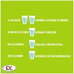 #CVTip ¿Sabes cuáles son los mejores momentos del día para #tomaragua? Manténte hidratado.