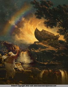 Noah's Ark by Howard David Johnson ~ Old Testament art