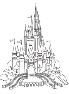 Cinderella's Castle...this would look so pretty on a photo album but it's really detailed! whoa!