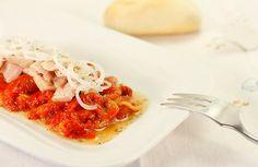 Crockpotting: Receta de ensalada de pimientos rojos y ventresca en Crock Pot o slow cooker.