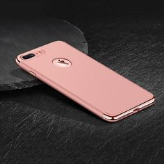 Electroplate Hard Back Case Cover for iPhone 6 6S Plus 7 7Plus Luxury 3 in 1 Shinny PC Plating Hard Case Ultra Slim