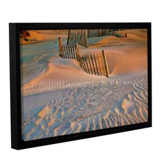 """ArtWall Dune Patterns Ii by Steve Ainsworth Framed Photographic Print on Wrapped Canvas Size: 16"""" H x 24"""" W"""