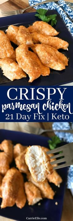 Crispy Parmesan Chicken is 21 Day Fix and Keto-Friendly!
