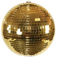 gold disco ball,