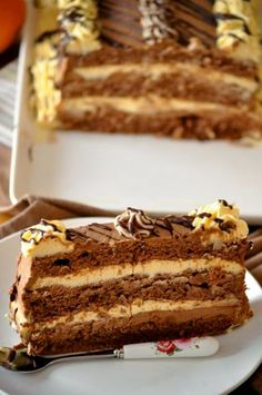 Cooking By Mirjana: Boem torta ili snite Torte Recepti, Kolaci I Torte, Frosting Recipes, Cake Recipes, Dessert Recipes, Cannoli, Eclairs, Walnut Torte Recipe, Cake Cookies