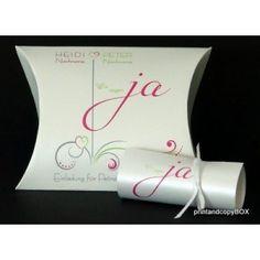 """Hochzeitseinladungsbox """"Design in pink & grün"""" Box, Modern, Pink, Design, Invitations, Snare Drum, Trendy Tree, Pink Hair"""