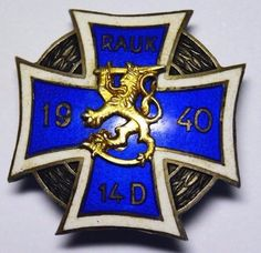 Finland Rare Silver 1940 14th Division Reserve Officers Course Badge    eBay