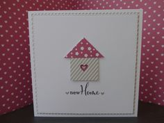 New Home card using Clearly Besotted Fancy Sayings stamps