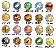 Ancient Greece City-State symbols