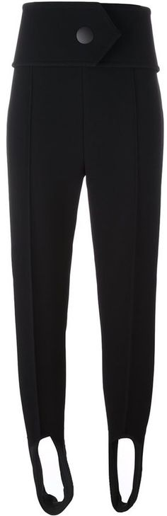Marni stirrup trousers  Details: Black stirrup trousers featuring a tapered leg, a belted waist, raised seams and stirrup ankle straps.
