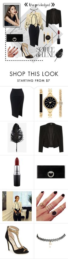"""""""Yoon Ha ~ High Society   UEE After School"""" by polkadots22 on Polyvore featuring Maticevski, Style & Co., River Island, MAC Cosmetics, Gucci, DaBaGirl, Melanie Auld, Kristin Cavallari, Bebe and Wet Seal"""