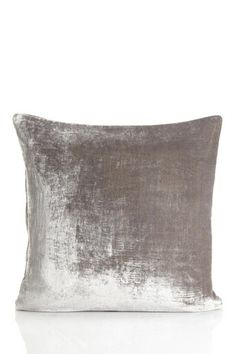 Vintage Wash Velvet Silver Square Pillow by Texta Group LLC. on @HauteLook