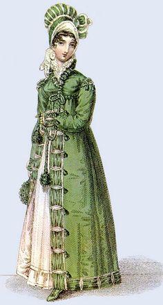 walking dress of the Regency period