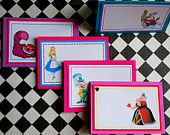 Alice in Wonderland - Mad Hatter Tea Party- Place Cards