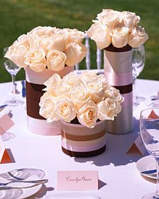 center pieces out of coffee cans | ... bit of brilliant! – chic centerpieces on a budget | WeddingGirl.ca