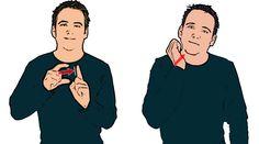 DOUGHNUT - British Sign Language, finger spell 'D', then sign 'nut'.