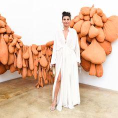 Giovanna Battaglia at W Magazine and Roberto Cavalli's celebration of the Rubell Family Collection.-Wmag