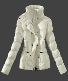 2013 New! Moncler Womens Down Jackets Stand Collar White