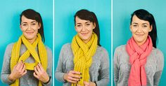 Cool Way to Tie a Scarf - Twisted Loop Knot [Video]
