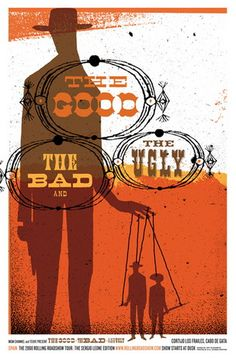 The Good, The Bad, and The Ugly Movie Poster (Kleinsmith)