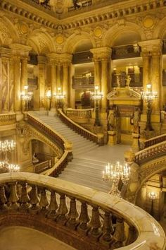 Photographic Print: Grand staircase entry to Palais Garnier Opera House, Paris, France. by Brian Jannsen : Baroque Architecture, Beautiful Architecture, Architecture Details, Grand Staircase, Staircase Design, Paris Opera House, Dream Mansion, Dream Homes, Canvas Home