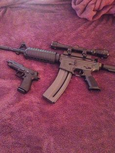 My Colt AR15 and Sig Mosquito